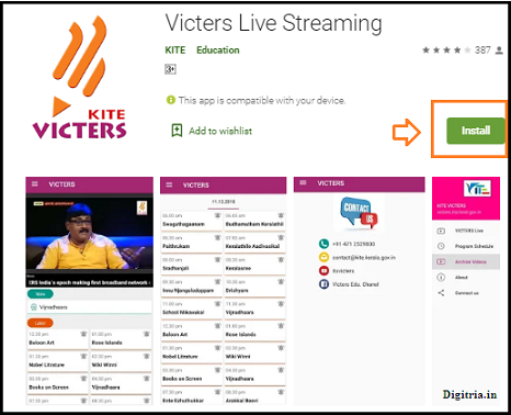 Victers live Streaming Mobile app