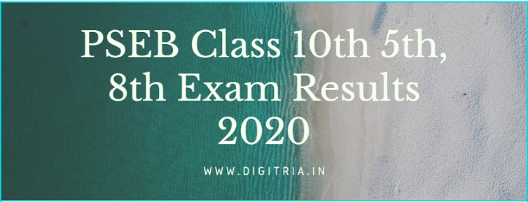 PSEB 10th Results 2020