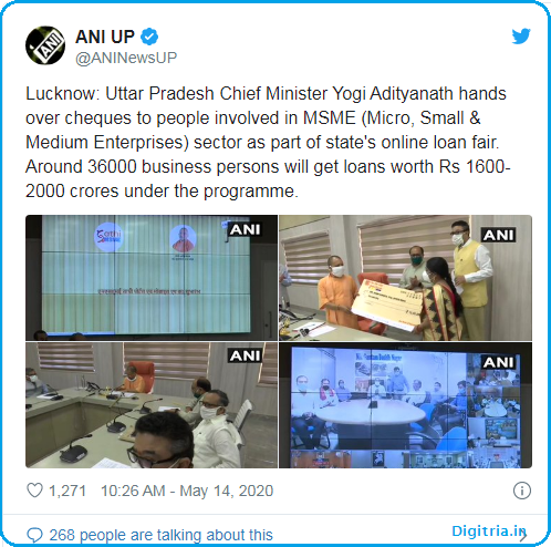 Official Tweet by UP CM: