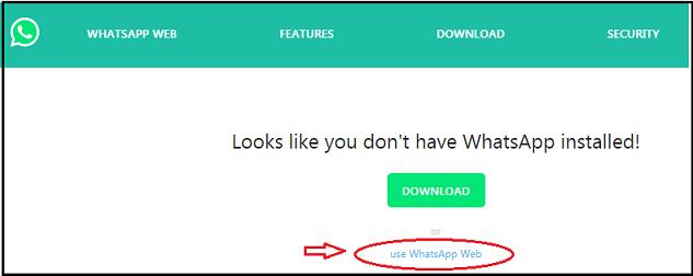 click on whatsapp web