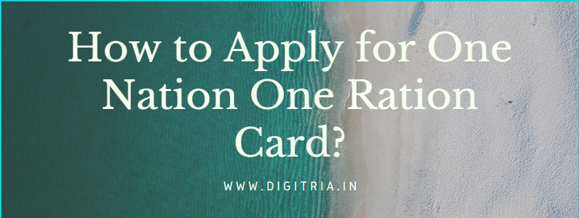 How to Apply One Nation One Ration Card?