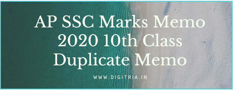 AP SSC Marks Memo 2020