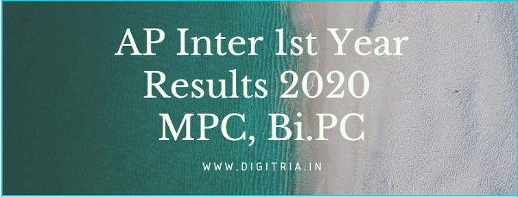 Eenadu BIEAP Inter 1st Year Results 2020