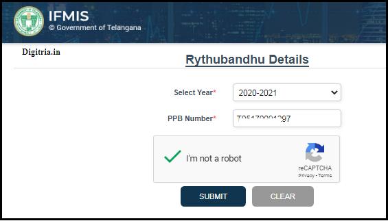 Enter details of Passbook