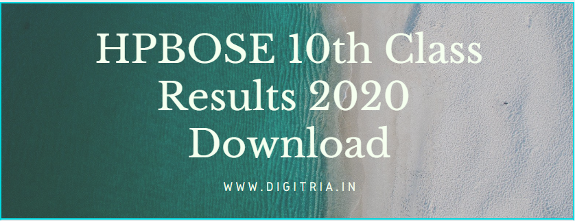 HPBOSE 10th Class Results