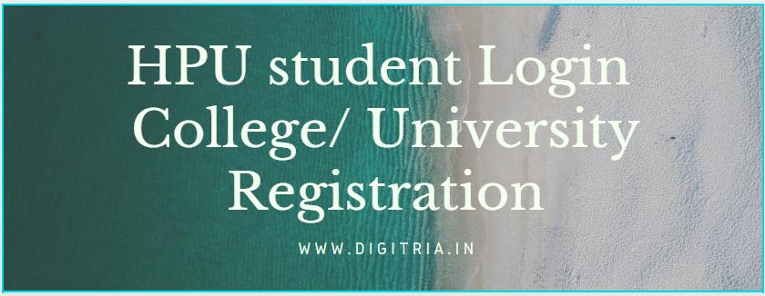 HPU student Login Registration
