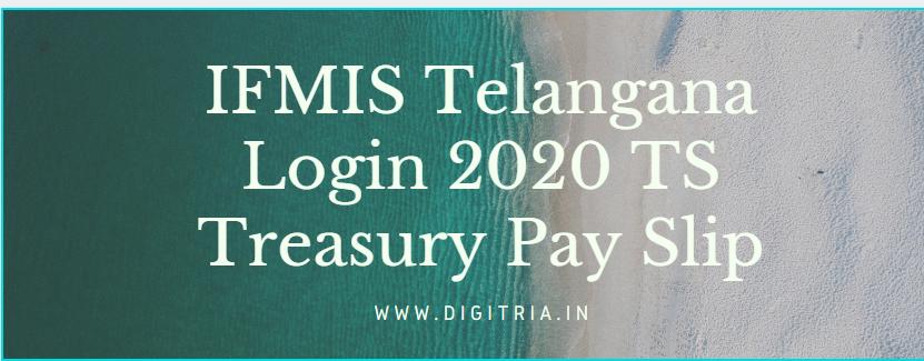 IFMIS Telangana Login 2020