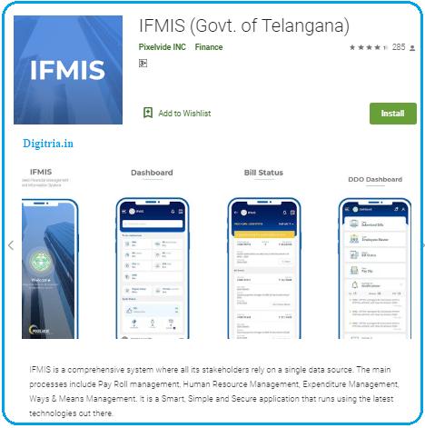 IFMIS Telangana Mobile app: