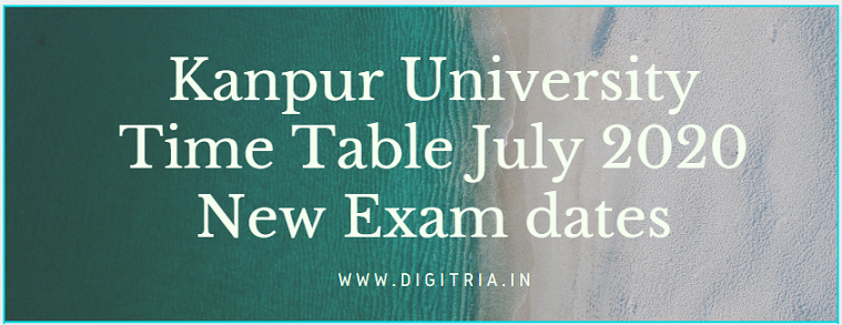 Kanpur University Time Table