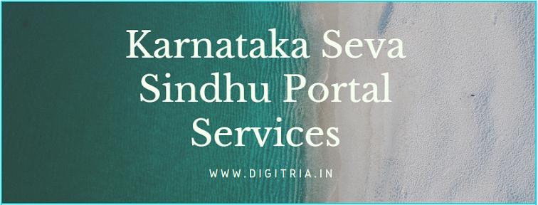 Karnataka Seva Sindhu Portal Services