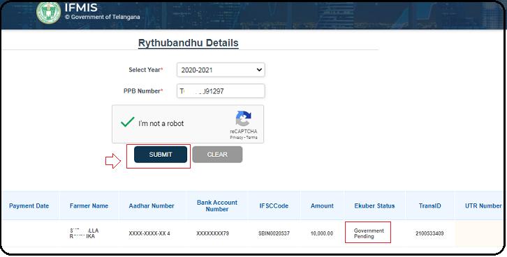 Status of TS rythu Bandhu