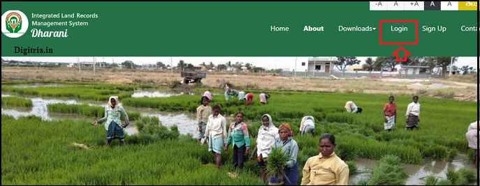 Click on Login button to know the DHARANI Telangana Land Records