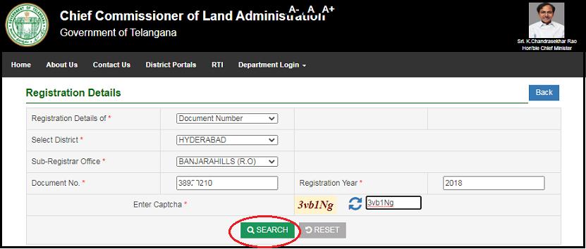 Enter Document details