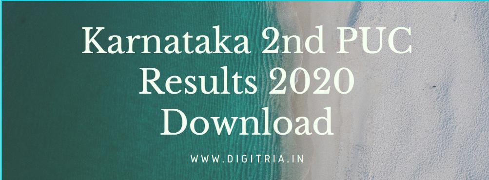 Karnataka 2nd PUC Results 2020