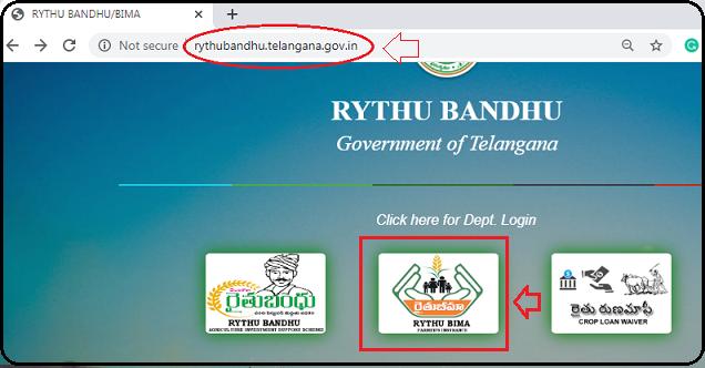 Click on Rythu Bima