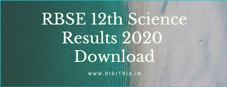 RBSE 12th Science Results 2020