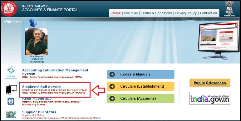 RESS Salary Slip AIMS Portal