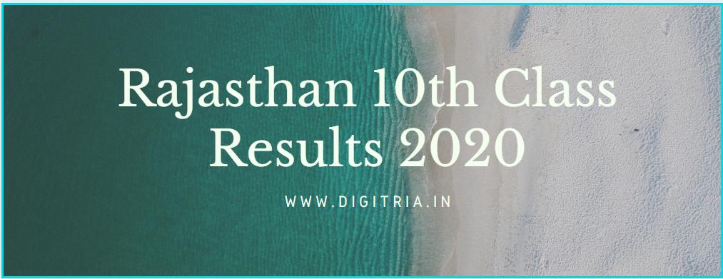 Raj 10th Results 2020