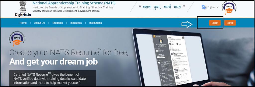NATS Online Registration login