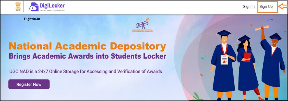DigiLocker Online Portal Sign up