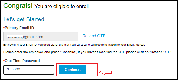 Enter Mail ID and OTP