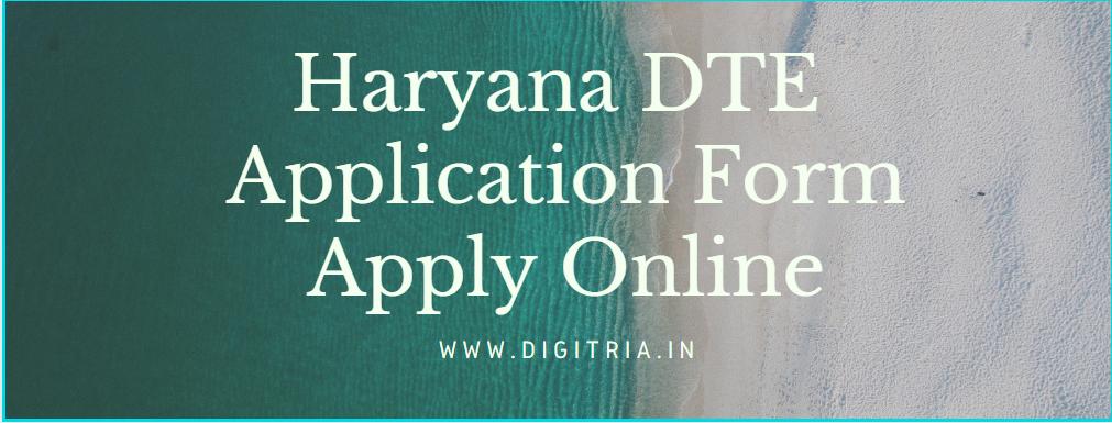Haryana Polytechnic Application Form (DET)