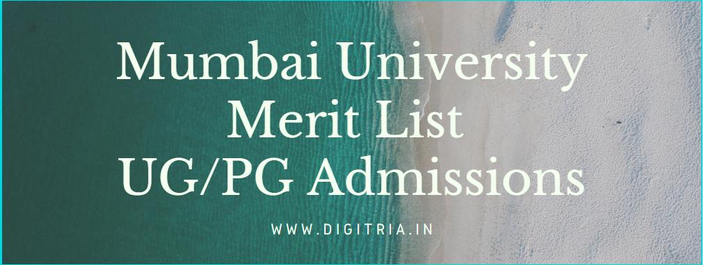 Mumbai University 3rd Merit List