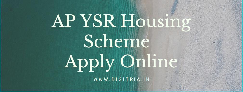 YSR housing Scheme apply Online