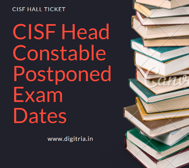 CISF Head Constable Ministerial Postponed Exam Dates 2020 Hall Ticket