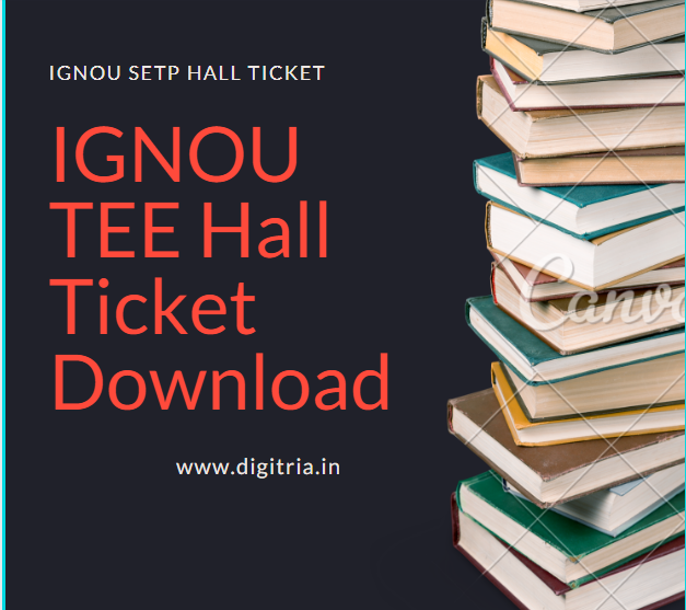 IGNOU TEE Hall Ticket June 2020