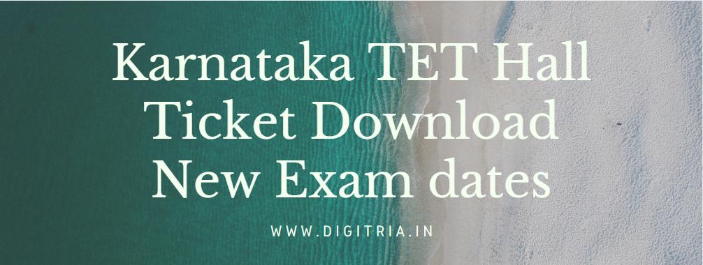 Karnataka TET Hall Ticket 2020-21