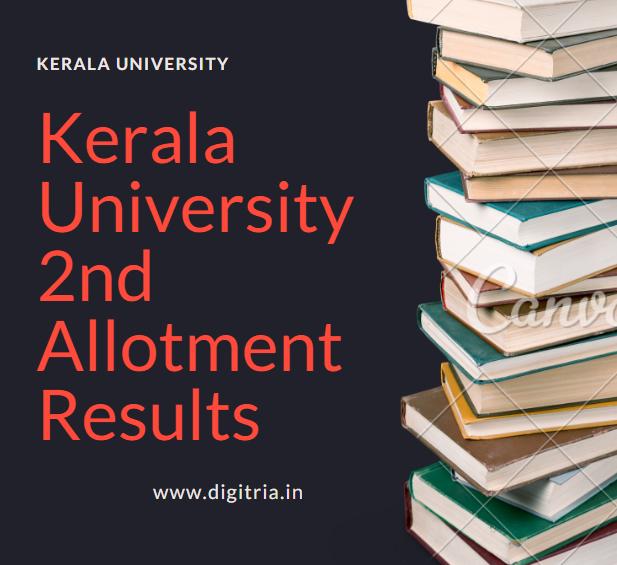 Kerala University 2nd Allotment Results