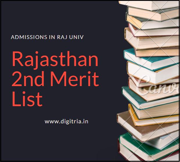Raj 2nd Merit list 2020