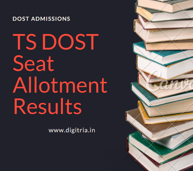 TS DOST 1st Phase Seat Allotment Results 2020