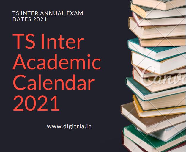 TS Inter Academic Calendar 2020-2021