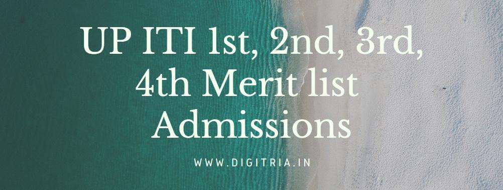 UP ITI 1st Merit list 2020