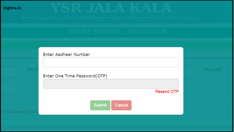 enter aadhar card number