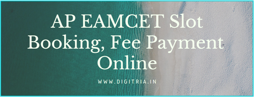 AP EAMCET Slot Booking Counselling