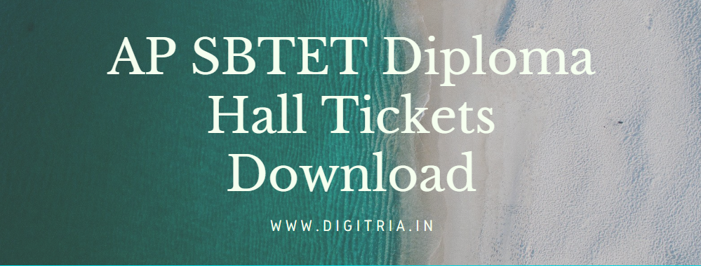 AP SBTET Diploma Hall Ticket