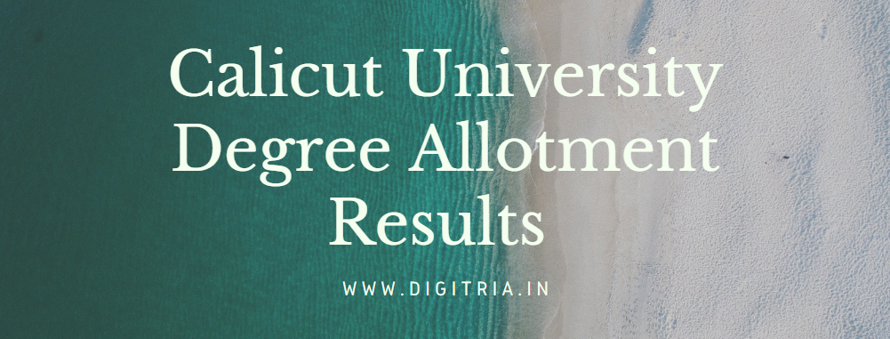Calicut University Degree 2nd Allotment Results