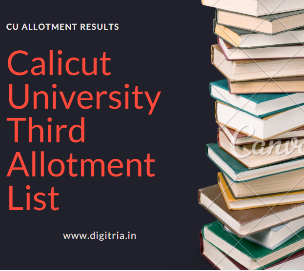 Calicut University Third Allotment
