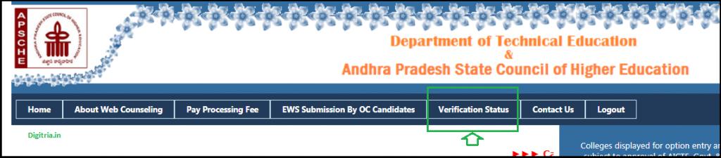 Click on verification status
