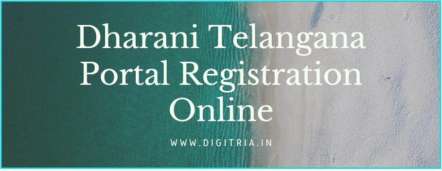 Dharani Telangana Portal Registration
