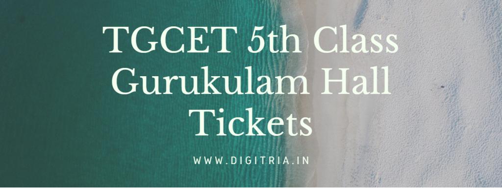 TGCET 5th Class Hall Ticket 2020-21