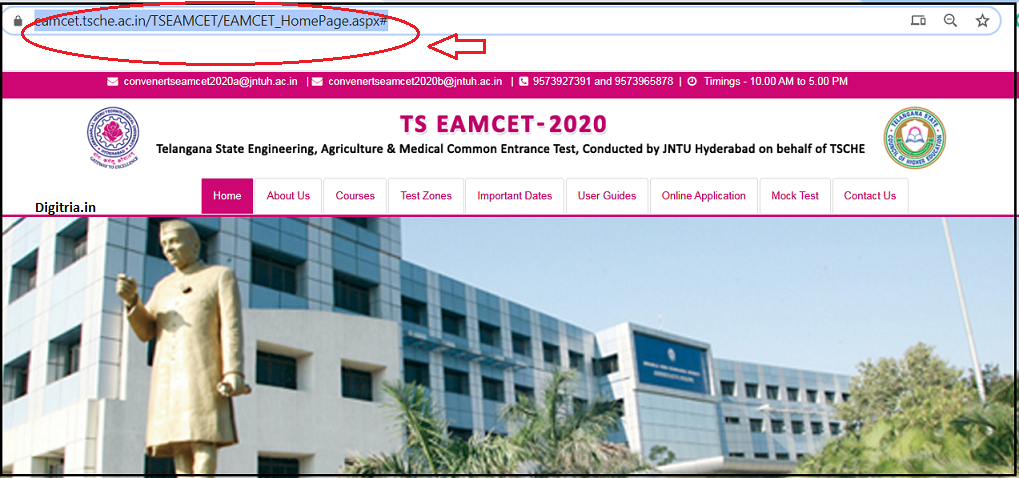 TS EAMCET Home page