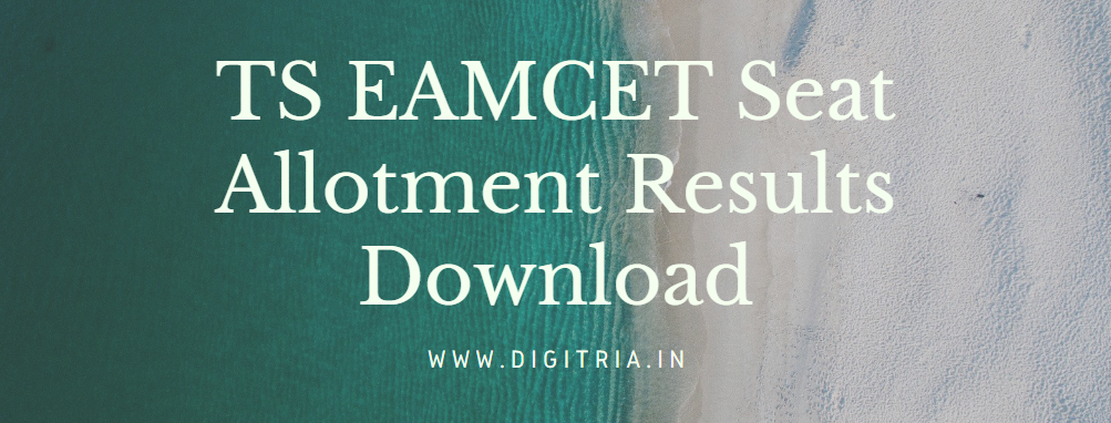 TS EAMCET Seat Allotment 2020