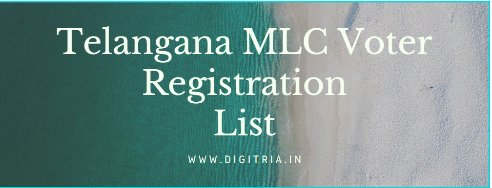Telangana MLC Voter Registration
