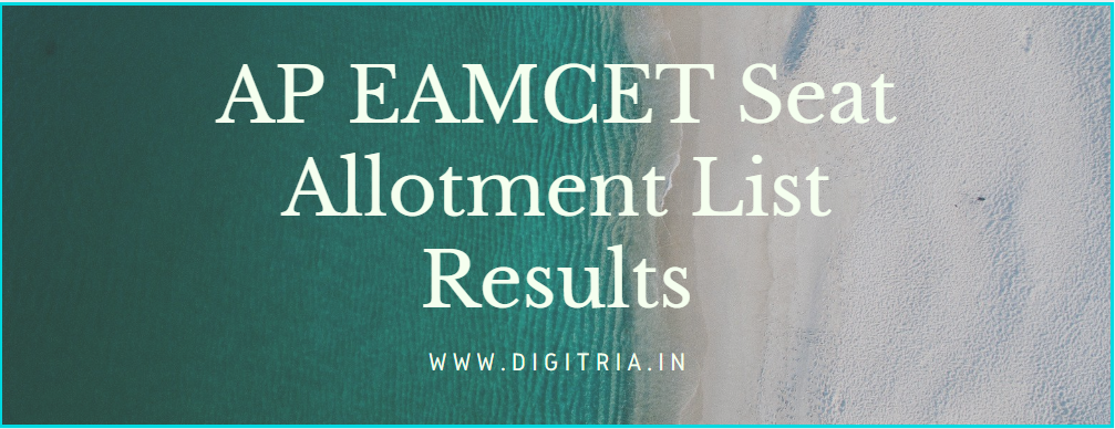 AP EAMCET Seat Allotment 2020 Results