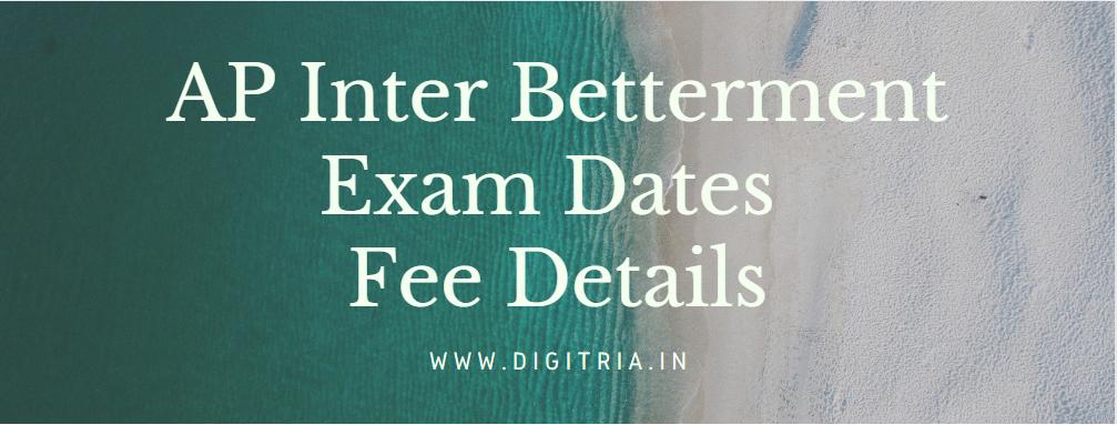 BIEAP Inter Betterment Exam Dates 2021