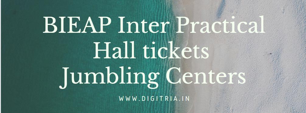 BIEAP Inter Practical Hall tickets 2021